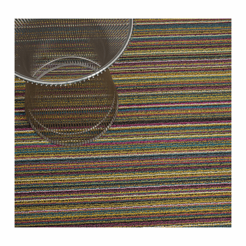 Chilewich Skinny Stripe Shag 18x28 - Bright Multi