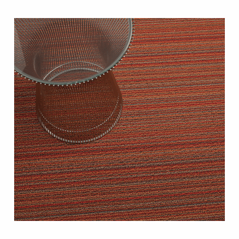 Chilewich Skinny Stripe Shag 18x28 - Orange