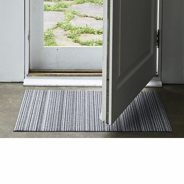 Chilewich Skinny Stripe Shag Runner24X72 Shadow