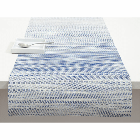 Chilewich Wave Table Runner 14X72 Blue