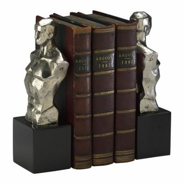Chiseled Men Iron Bookends by Cyan Design