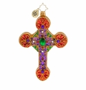 Christopher Radko A Cross, Fit For Royalty Ornament