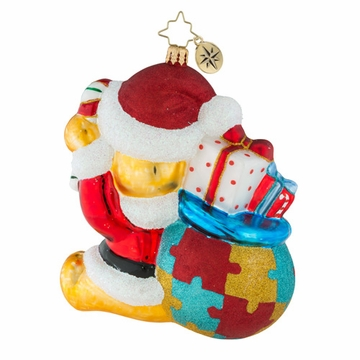 Christopher Radko A Gifted Perspective Teddy Bear Ornament - Autism Awareness