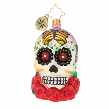 Christopher Radko A Head For Details Sugar Skull Gem Ornament