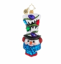 Christopher Radko A Head Of The Rest Snowman Ornament
