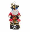 Christopher Radko A Leg To Stand On Pirate Santa Ornament