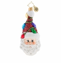 Christopher Radko A Light Bulb Moment Ornament - Santa with Christmas Lights