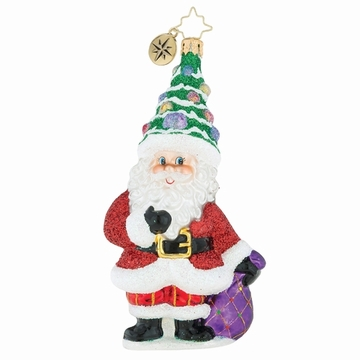 Christopher Radko A Lot On My Mind Santa Claus Ornament