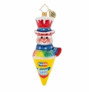 Christopher Radko A Refreshing Treat! Snowman Popsicle Ornament