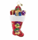 Christopher Radko A Stocking You Can Hear! Ornament