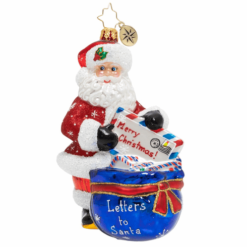 Christopher Radko A Whole Lot Of Letters Santa Ornament