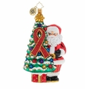 Christopher Radko AIDS Awareness Christmas Tree Ornament