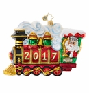 Christopher Radko All Aboard! 2017 Santa Train Ornament