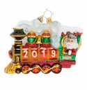 Christopher Radko All Aboard! 2019 Santa Claus Ornament