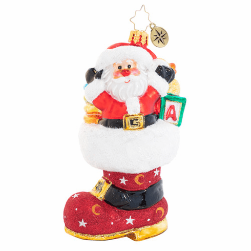 Christopher Radko Baby's Got The Boot Of Loot Ornament