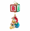 Christopher Radko Bear Block Party Ornament
