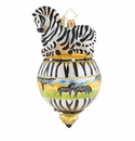 Christopher Radko Black and White Beauty Zebra Ornament