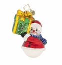Christopher Radko Can You Guess What's Inside? Snowman with Gift Ornament