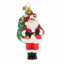 Christopher Radko Carrying A Heavy Load Santa Claus Ornament