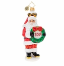 Christopher Radko Celebrate 2019 Santa! Ornament