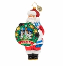 Christopher Radko Celebrate Chicago Santa Ornament