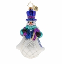 Christopher Radko Christmas Morning Delivery! Snowman Ornament