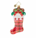 Christopher Radko Classic Country Stocking Ornament