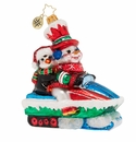 Christopher Radko Dashing Through The Snow Penguin Ornament