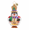 Christopher Radko Delicious Penguin Commander Ornament