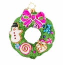 Christopher Radko Delightfully Decadent Wreath Ornament