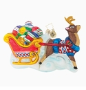Christopher Radko Dont Get Snooty! Ornament - Reindeer and Sleigh
