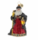 Christopher Radko Ebony Clad Mr. Claus Ornament