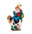 Christopher Radko Farmer Nick Ornament