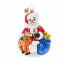 Christopher Radko Frosty and Baby Fawn Ornament