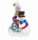 Christopher Radko Gearing Up For Christmas Ornament - Snowman Machine