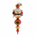 Christopher Radko Get To The Point! Santa Claus Finial Ornament