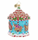 Christopher Radko Gingerbread Menagerie Carousel Ornament