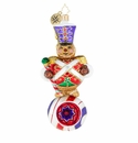 Christopher Radko Gingerly Reflecting on Christmas Ornament - Marching Band Gingerbread Man