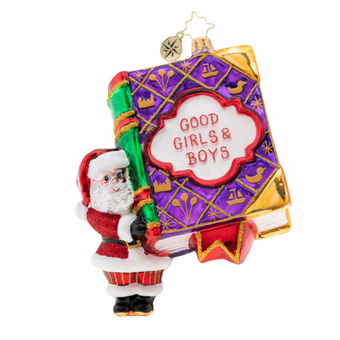 Christopher Radko Good Girls and Boys Book! Ornament