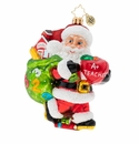 Christopher Radko Hall Pass For Santa! Ornament