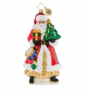 Christopher Radko Have Tree Will Travel Santa Claus Ornament