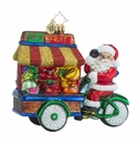 Christopher Radko Healthy Haul Santa Claus With Fruit Stand