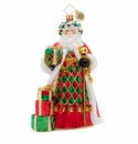 Christopher Radko Holiday Harlequin Santa Ornament