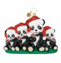 Christopher Radko Holiday Panda Portrait Ornament