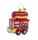Christopher Radko Hot Diggity Dog Food Truck Little Gem Ornament
