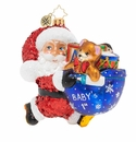 Christopher Radko Hurry Santa! It's Baby's First Christmas! Ornament