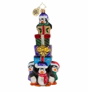 Christopher Radko Its Lonely At The Top Penguin Ornament