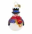 Christopher Radko Jolly All A-Round Snowman! Ornament