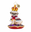 Christopher Radko Kingly Mr. Pug Ornament
