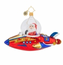 Christopher Radko Light Speed Santa! Ornament